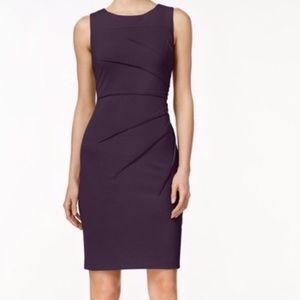 Calvin Klein | Purple Sheath Sunburst Dress | 8